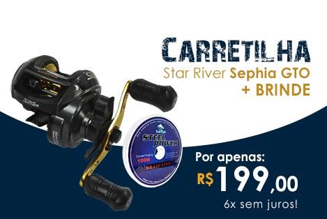 Carretilha Star River Sephia GTO + Brinde