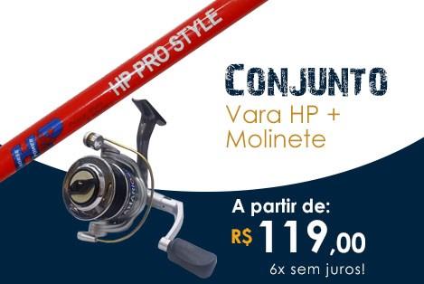 Conjunto: Vara HP + Molinete