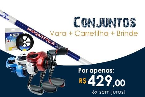 Conjunto Vara Magnifica + Carretilha V73C