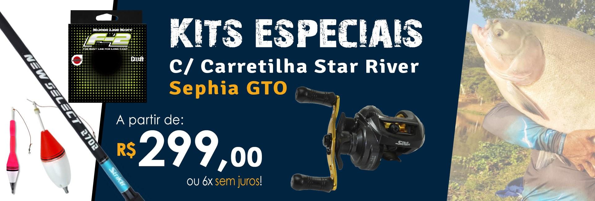 Kits Carretilha Sephia GTO Tamba