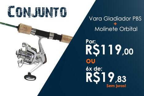 Conjunto Pesca Brasil Gladiador