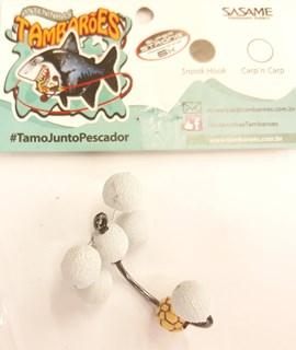 Anteninha Tambarões - Antena X Branco / BF amarela
