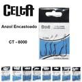 Anzol Celta Chinu Encastoado CT-8000 C/ 5 Unidades