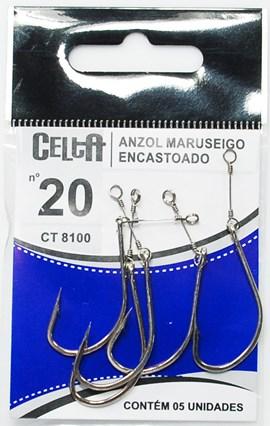 Anzol Celta Encastoado CT-8001  Aço Rigido – Anzol Maruseigo  - c/5 un