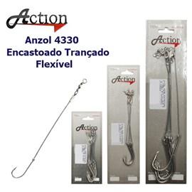 Anzol Encastoado Action 4330 Cabo Flexível Trançado