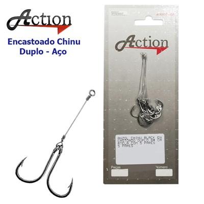 Anzol Encastoado Action Chinu Duplo a6498a3e1dc