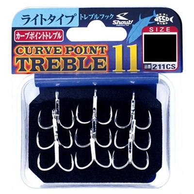 Anzol Garateia Shout Curve Point Treble 11 N°1/0 6Uni