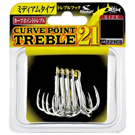 Anzol Garateia Shout Curve Point Treble 21 Nº1 7Uni