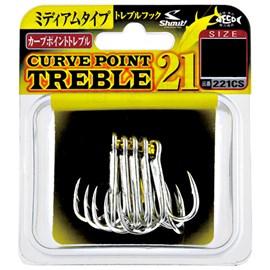 Anzol Garateia Shout Curve Point Treble 21 Nº4 (9 unidades)