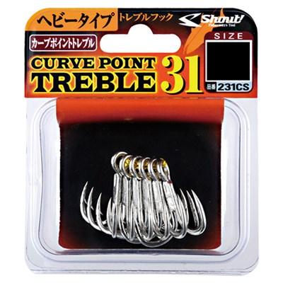 Anzol Garateia Shout Curve Point Treble 31 Nº3/0 6Uni