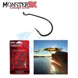Anzol Monster 3X Offset EWG - 3 unidades