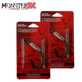 Anzol Monster 3X OFFSET LASTREADO - 3 unidades