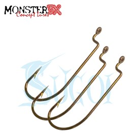 Anzol Monster 3X OFFSET - Worm - 3/0 - 3 unidades