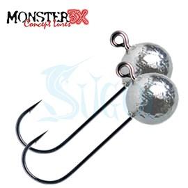 Anzol Monster 3X - X Hook - 5/0 - 2 unidades