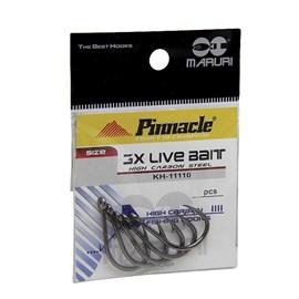 ANZOL PINNACLE 3X LIVE BAIT BLACK 4/0 - C/10