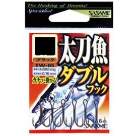 Anzol Sasame Garateia Dupla TW-05 Black L (6 unidades)