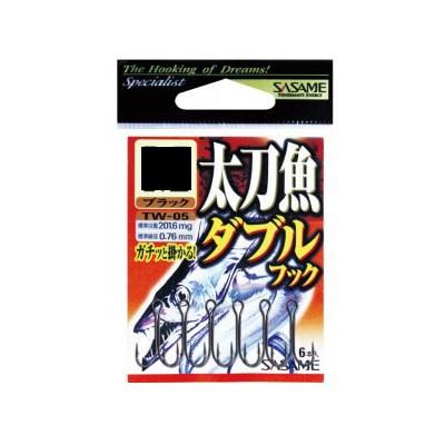 Anzol Sasame Garateia Dupla TW-05 Black L C/6Uni