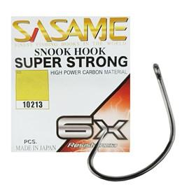 Anzol Sasame Snook Hook Super Strong 6x N°2/0 Black C/6 Unidades (10 Pacotes)