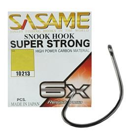 Anzol Sasame Snook Hook Super Strong 6x N°2/0 Black C/6 Unidades (5 Pacotes)