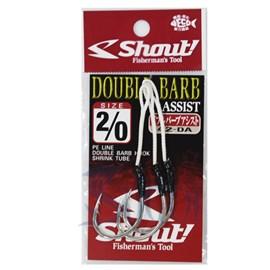 Anzol Shout Double Barb Assist Hook 2/0 C/ 3Uni
