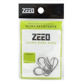 Anzol Zeeo Chinu Sure Ring BN C/ 10 Unidades