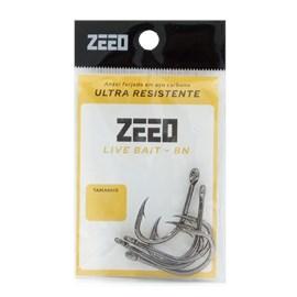 Anzol Zeeo Live Bait BN C/ 10 Unidades