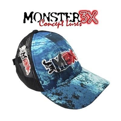 BONÉ MONSTER 3X FIT -  Deep Blue