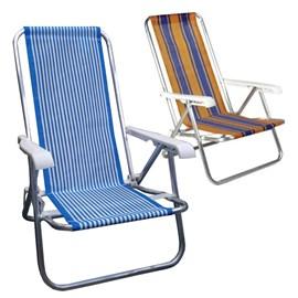 Cadeira BEL FIX Reclinável 4 Posições Aluminio - Ref 25000