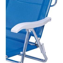 Cadeira Mor 6 Posições C/ Almofada Azul 2490