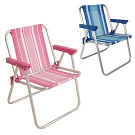 Cadeira MOR Alta Infantil (Alumínio) - Azul