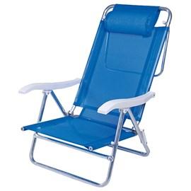 Cadeira MOR Sol de Verão com Almofada - Azul