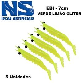 CAMARAO NS EBI 7 CM VERDE LIMAO C/5
