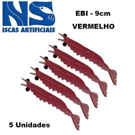 CAMARAO NS EBI 9 CM VERMELHO C/5