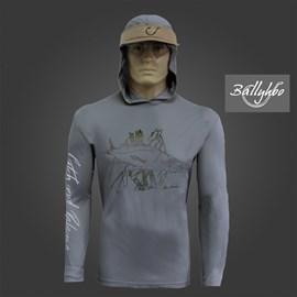 Camisa Ballyhoo 418 Dark Grey Robalo Galhos EXG