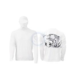 Camisa Ballyhoo Ninja 414- Branco Robalo (EXG)
