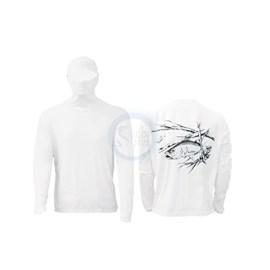 Camisa Ballyhoo Ninja 414 Branco Robalo EXG