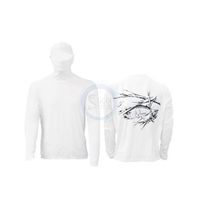Camisa Ballyhoo Ninja 414 Branco Robalo GG