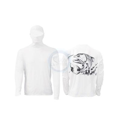 Camisa Ballyhoo Ninja 414 Branco Robalo P