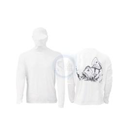 Camisa Ballyhoo Ninja 414- Branco Tucunaré (GG)
