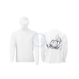 Camisa Ballyhoo Ninja 414 Branco Tucunaré GG