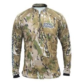 Camisa Rock Fishing Dry 50UV Camuflado Deserto