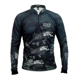 Camisa Rock Fishing Dry 50UV Skull Black