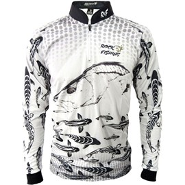 Camisa Rock Fishing Dry UV Maori Robalo Branco