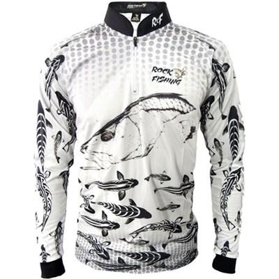 Camisa Rock Fishing Dry UV Maori Robalo Branco