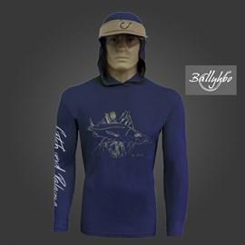 Camiseta Ballyhoo 418 Marinho Robalo Galhos EXG