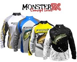 CAMISETA MONSTER 3X NEW FISH