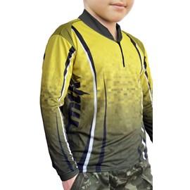 Camiseta MTK Atack C/ Ziper Infantil Amarelo