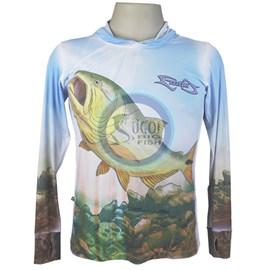 Camiseta MTK Eco Bio c/capuz Azul- Feminina (G)