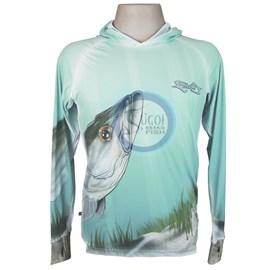Camiseta MTK Eco Bio c/capuz Azul (M)