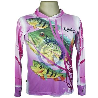 Camiseta MTK Eco Bio c/capuz Rosa- Feminina